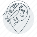 address, aircraft, delivery, navigator, shipping icon