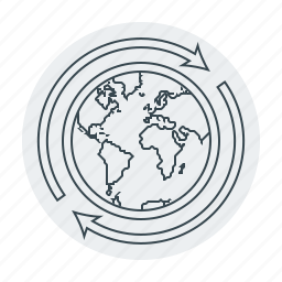 around the world, business, earth, globe, shipping, world, worldwide icon