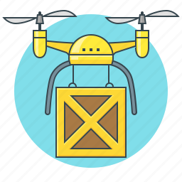 box, delivery, drone, logistics, shipping icon
