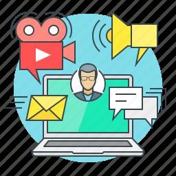 business, concept, digital, internet, marketing icon
