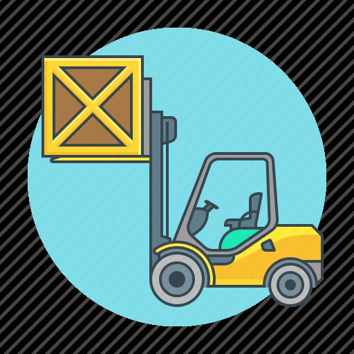 cargo, forklift, loader, logistic, logistics, truck icon