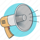 advertising, bullhorn, loudspeaker, megaphone, promotion, sound, speaker icon