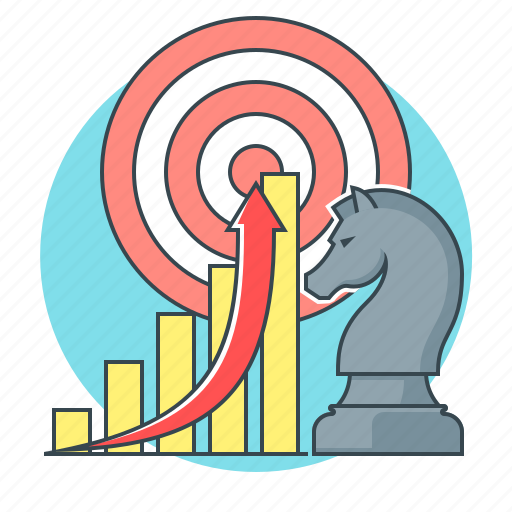 business, diagram, graph, marketing, strategy, target icon