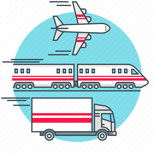 aircraft, business, logistics, train, transport, transportation, vehicle icon