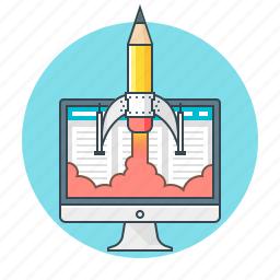 concept, creative, design, development, web, web design icon