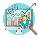 analysis, chart, concept, monitoring, seo, statistics icon