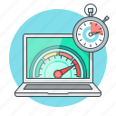 concept, page, performance, seo, speed icon