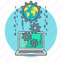 code, coding, cogwheel, concept, gear, programming icon