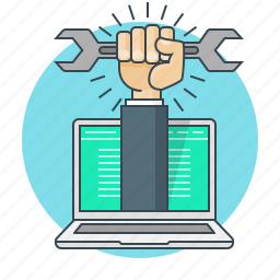 concept, repairs, service, support, web icon