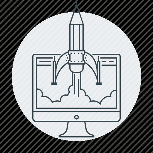 concepts, design, development, web icon