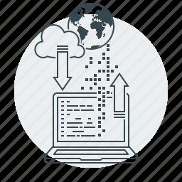 coding, concepts, development, network, web icon