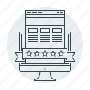 page, page quality, quality, rating, stars, web icon