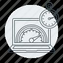 page speed, performance, seo, speed, speedometer, web icon
