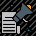 announcement, argument, bulletin, declaration, statement icon