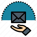 communication, email, letter, mail, message