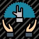 hand, insignia, mark, marking, sign icon