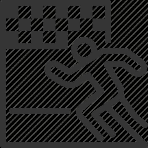 Achieve, flag, goal, race, run, start, stickman icon - Download on Iconfinder