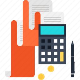 accounting, budget, calculator, finance, pay, report, taxes icon