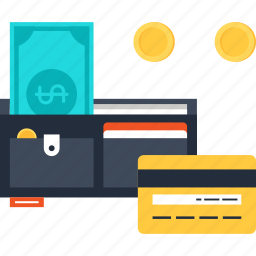 commerce, dollar, ecommerce, method, money, payment, wallet icon