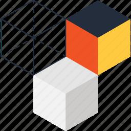 box, cube, design, development, digital, graphic, modeling icon
