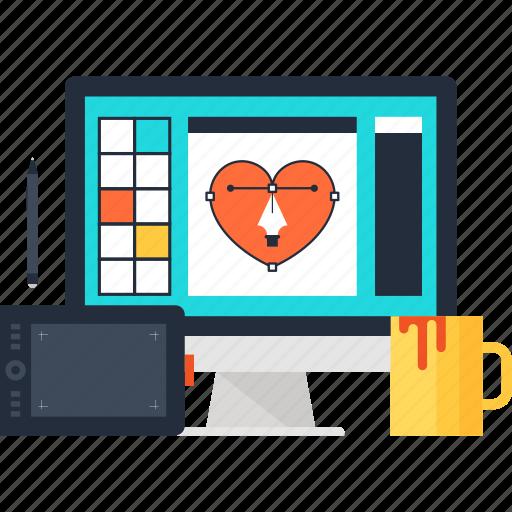 art, computer, design, development, digital, graphic, studio icon