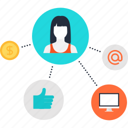 affiliate, commerce, digital, marketing, media, promotion, social icon
