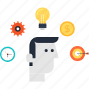 business, efficiency, idea, plan, planning, strategy, target icon
