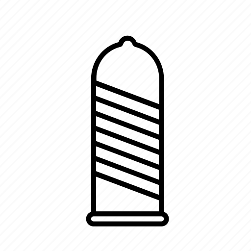 condom, contraception, protection, ribbed, sex, sperm icon