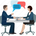 business conference, chat, discussion, group, meeting, message, talk icon