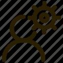 ability, capability, outline, skill icon
