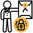 confidential, document, lock, private, protected icon