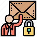 confidential, email, encrypted, message, secret icon