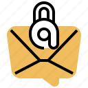 confidential, email, letter, private, secured icon