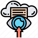 cloud, data, information, inside, lookup icon