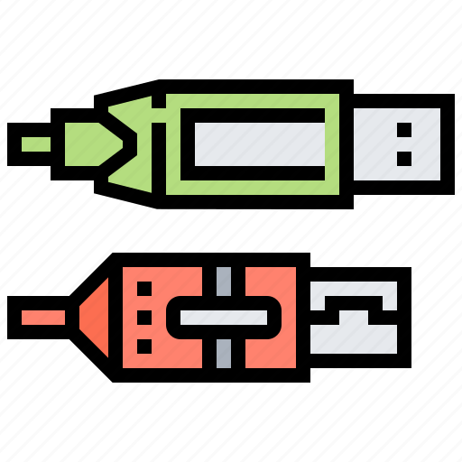 Cable, computer, connector, hardware, pinter icon - Download on Iconfinder