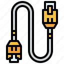 cable, connection, connector, hardware, lan icon
