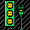 cable, connector, eu, plug, socket