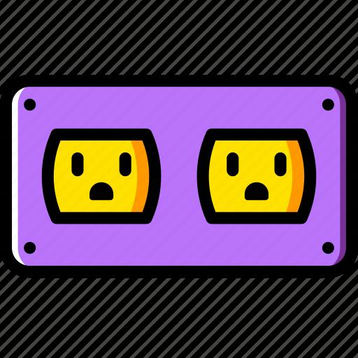 cable, connector, dobule, plug, socket, us icon