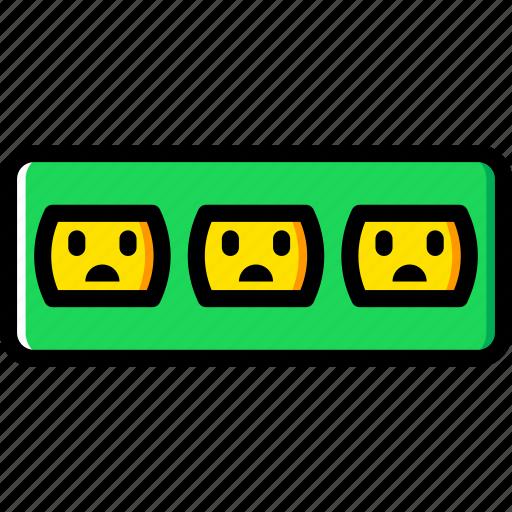 cable, connector, plug, socket, triple, us icon
