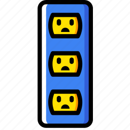 cable, connector, plug, socket, triple, us icon