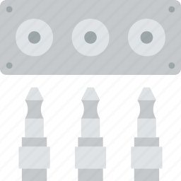 audio, cable, connector, plug, ports icon