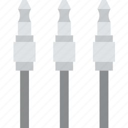 audio, cable, connector, plug, plugs icon