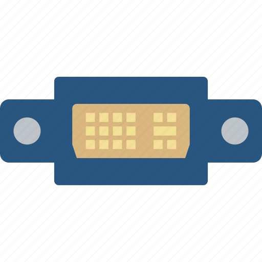 cable, connector, dvi, plug, port icon