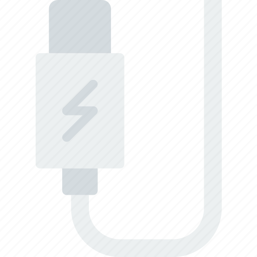 cable, charger, connector, plug icon