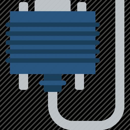 cable, connector, dvi, plug icon