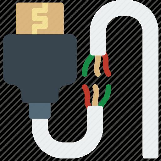 broken, cable, connector, hdmi, plug icon