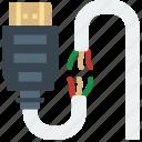 connector, broken, plug, hdmi, cable