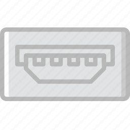 a, cable, connector, mini, plug, usb icon