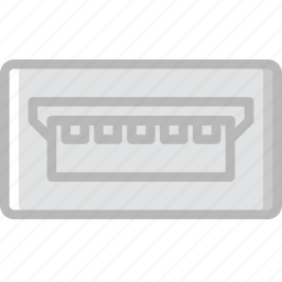 b, cable, connector, mini, plug, usb icon