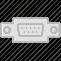 cable, connector, plug, port, vga icon